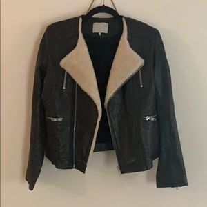 Iro svea 1 small s shearling leather jacket moto